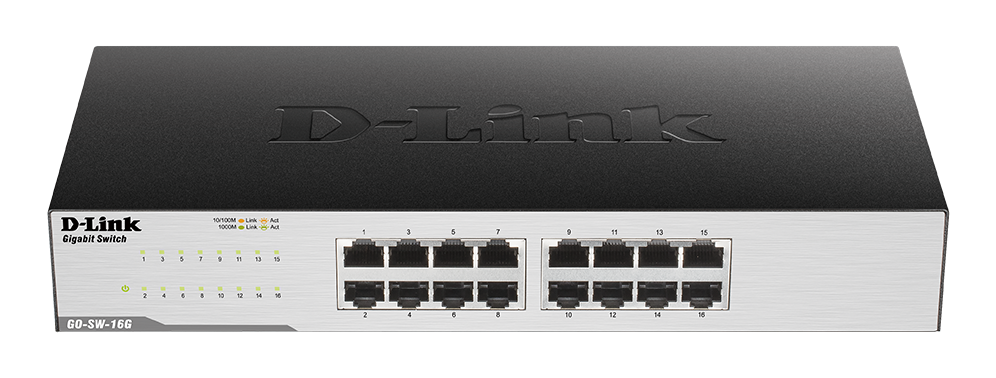 Switch D-Link, GO‑SW-16G/E, i zi