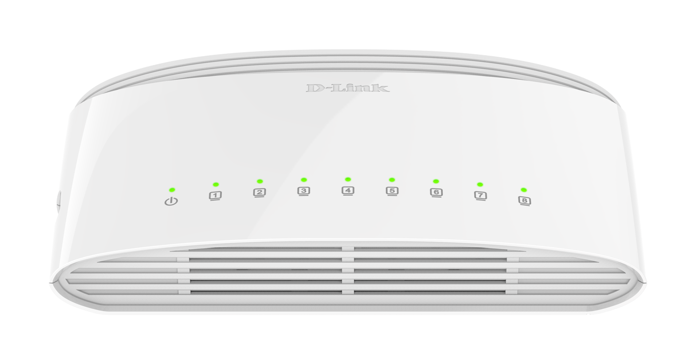 Switch D-Link, DGS‑1008D Gigabit, e bardhë