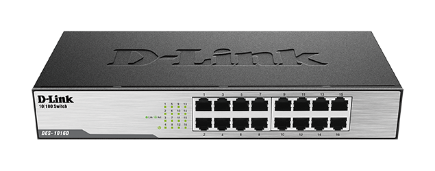 Switch D-Link, 16 Port, DES‑1016D, i zi
